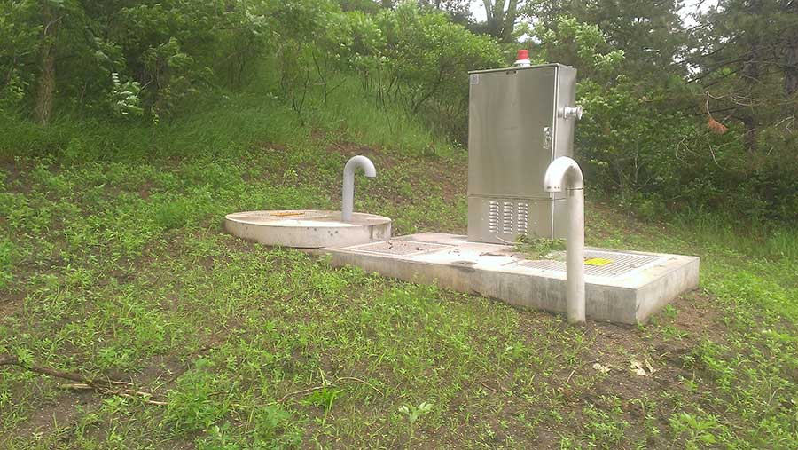 example of what a water lift station looks like
