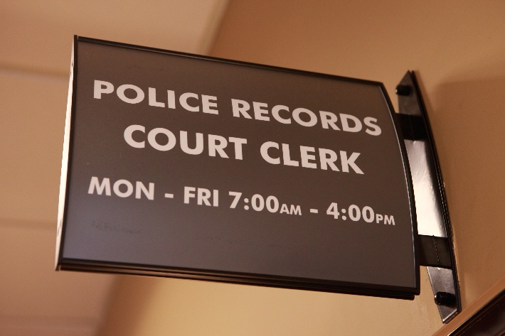 Photo of Records Department Sign