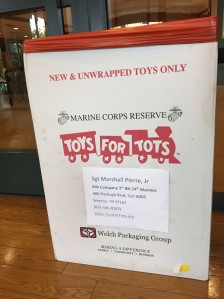 Brentwood Firefighters and Marines Team Up for Toys for Tots