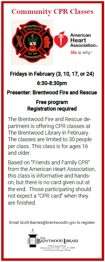 Brentwood Firefighters Offer Free CPR Classes | News | City of Brentwood