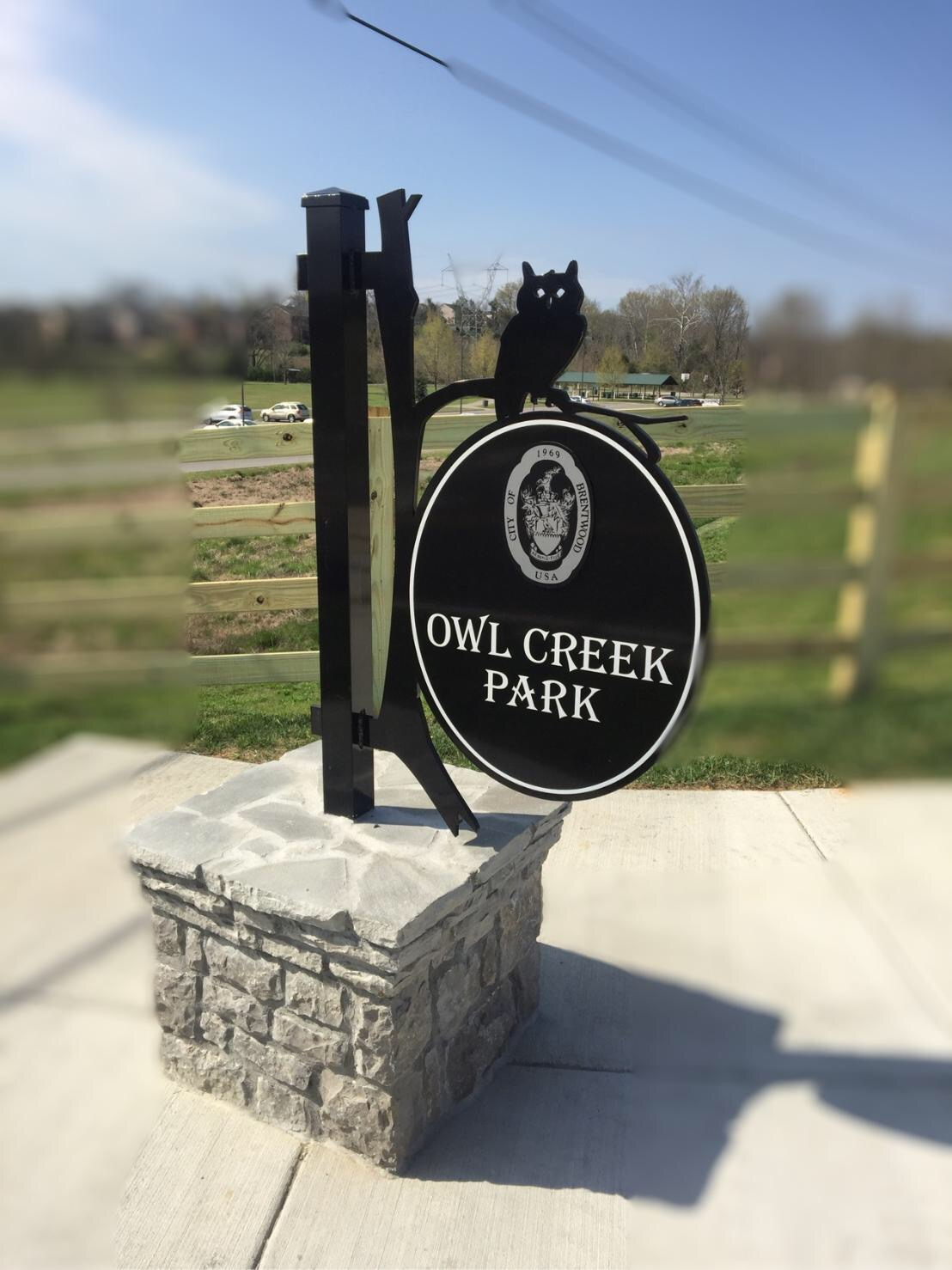 Owl Creek Park Sign