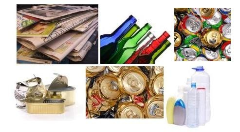 Collage of Recyclable Materials