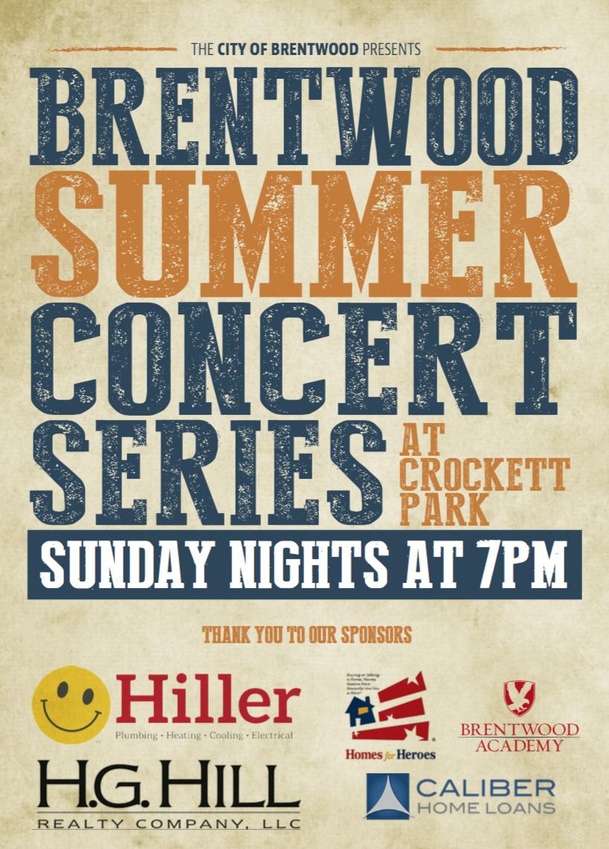 2017 Summer Concert Series