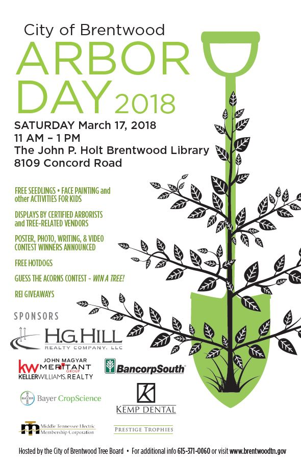 poster showing arbor day events