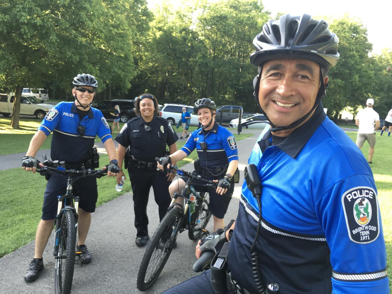 Photo of police bike patrol employees