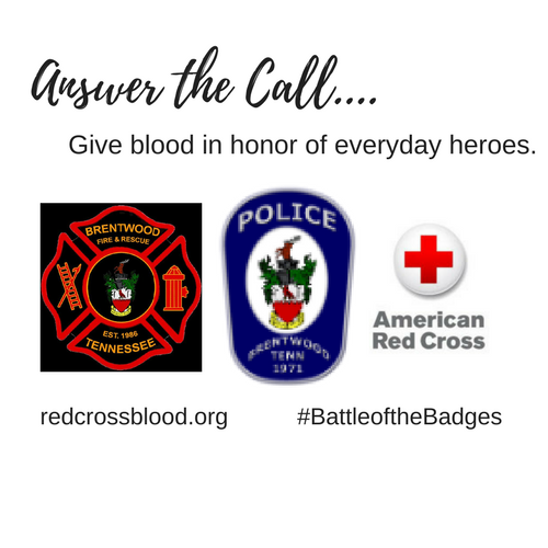Battle of the Badges Blood Drive, August 21-22