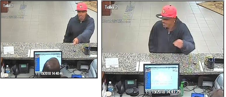 First Bank Robbery nov 19 suspect image