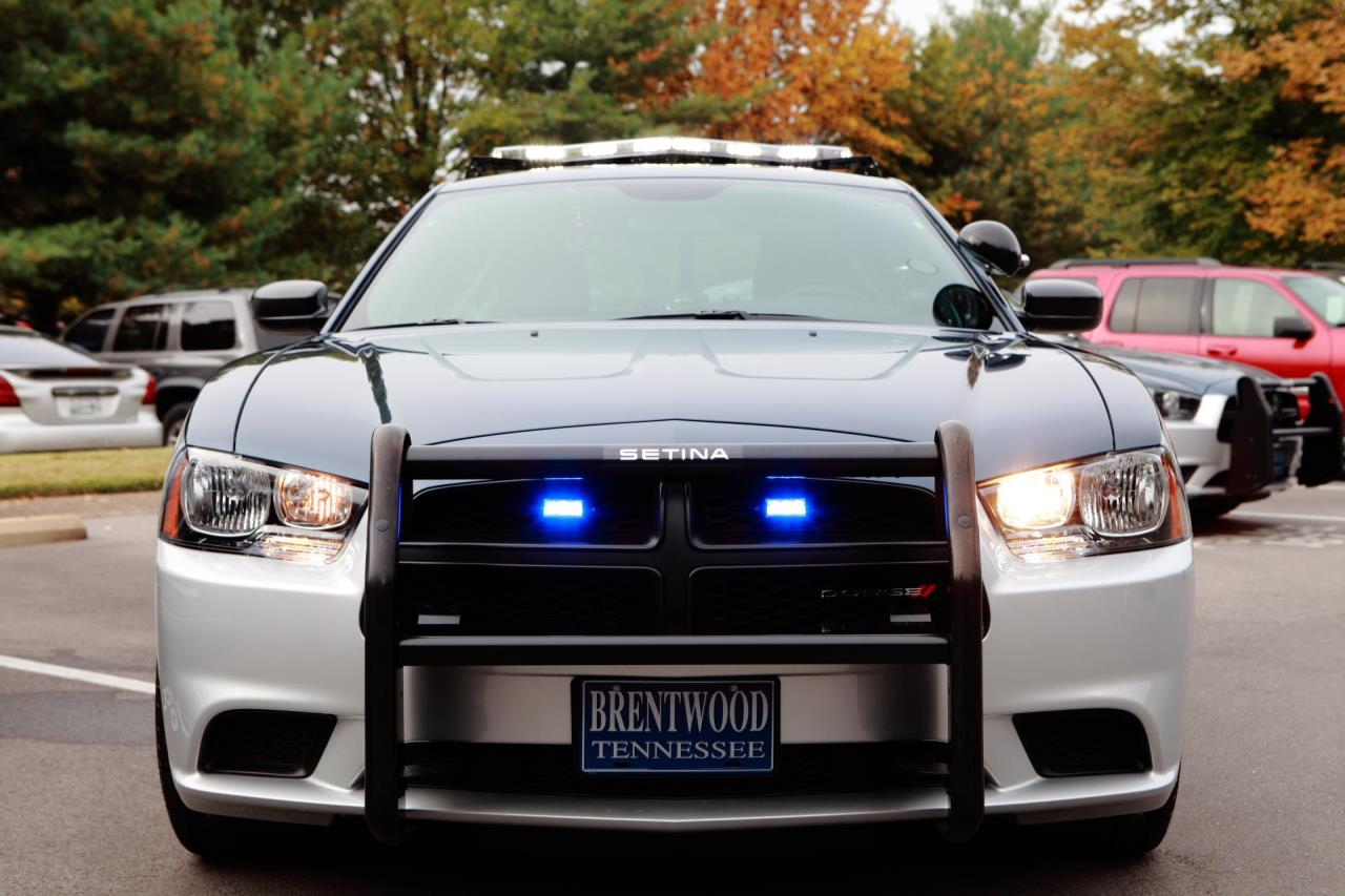 Photo of the front end of a Brentwood Patrol Car
