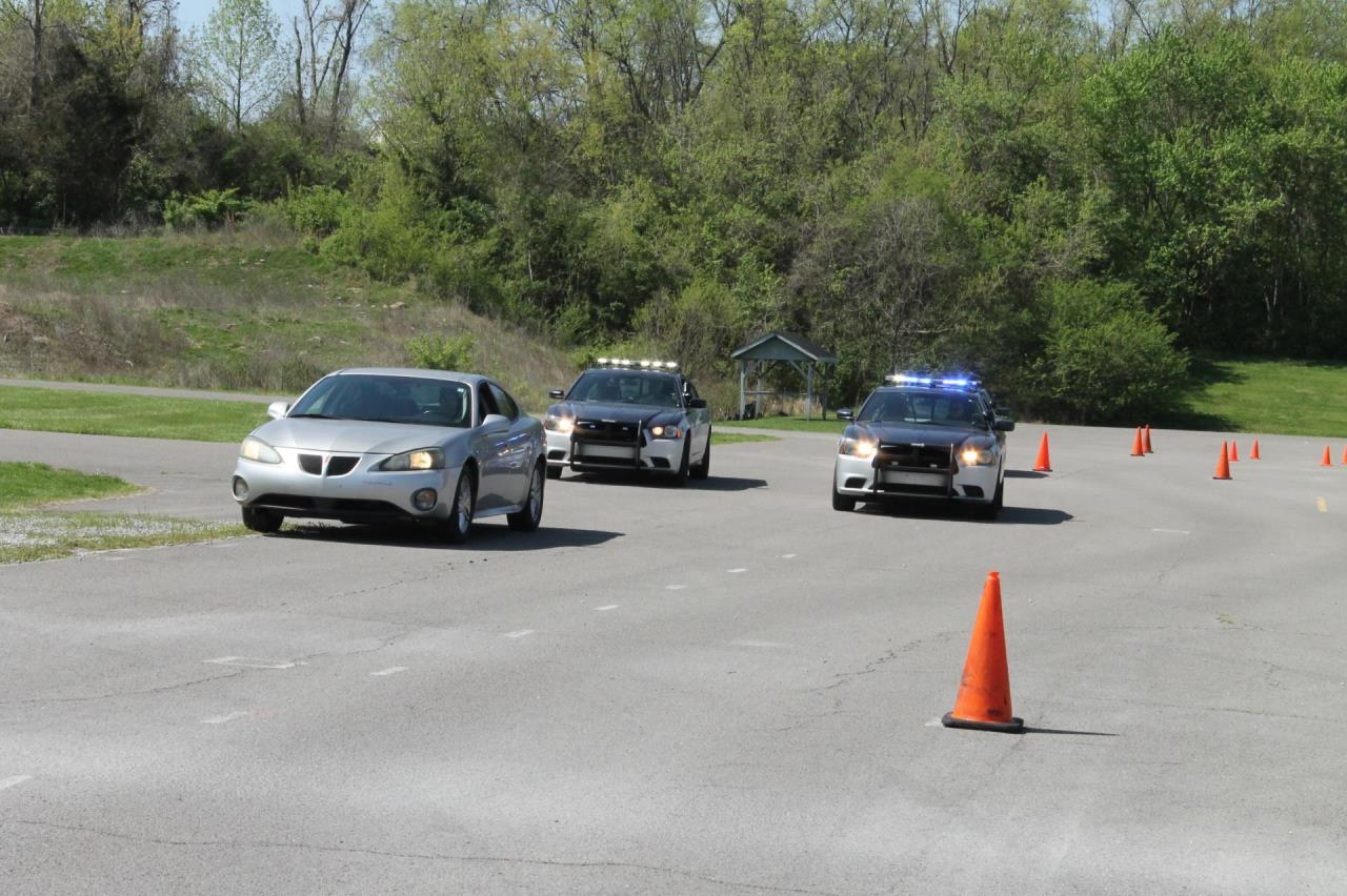 Photo of Brentwood Police Cars during a Training Scenerio