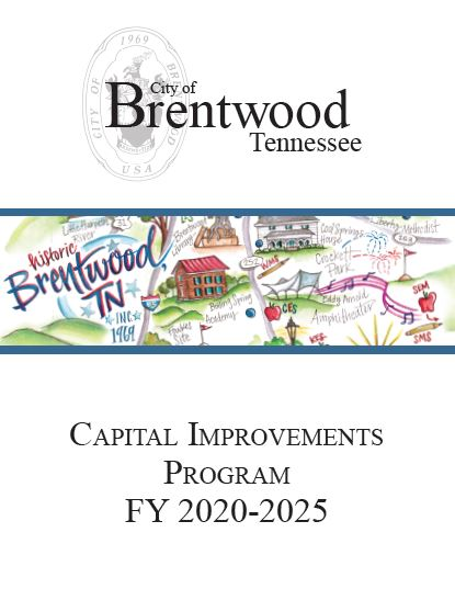 Capital Imrpovement Plan Cover Page