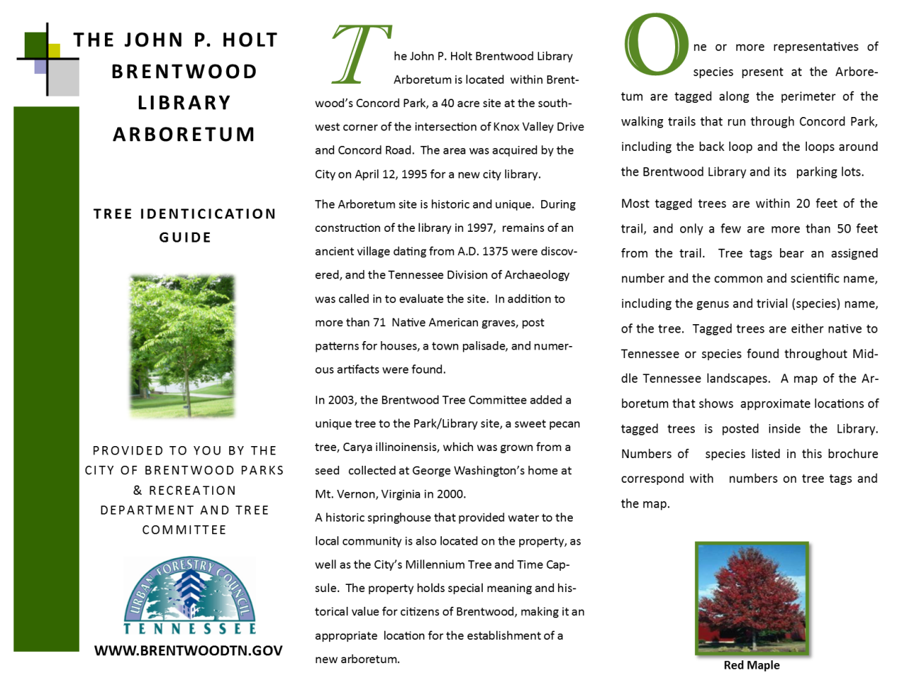 LIBRARY ARBORETUM PAGE 1