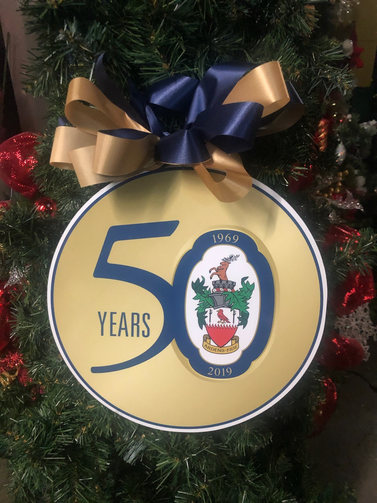 image of 50th tree ornaments