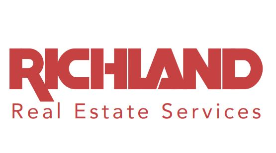 Richland Real Estate Services logo in red and white