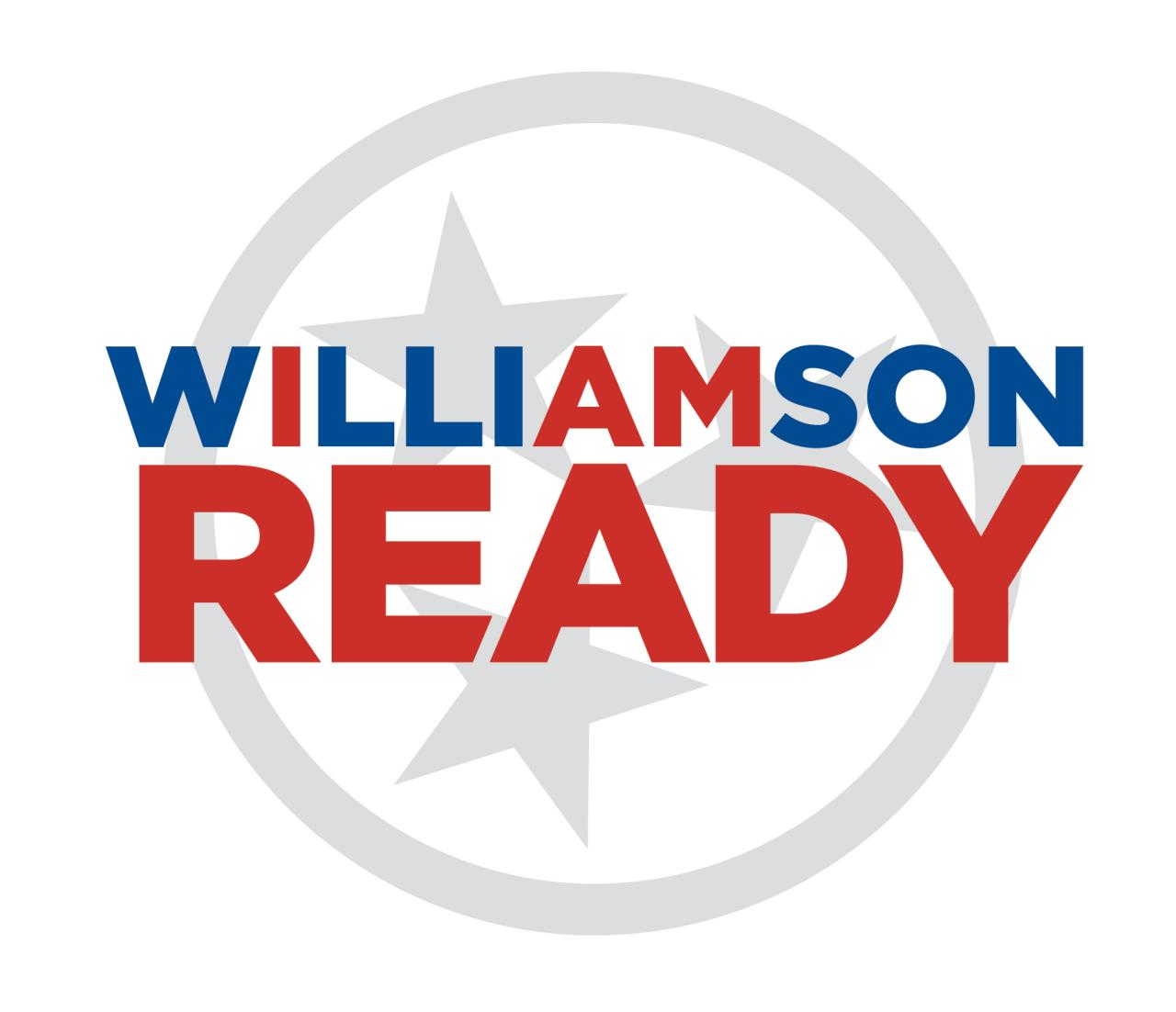 blue and red words that read Williamson ready