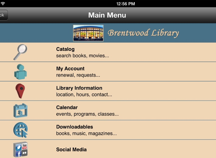 Brentwood Library Launches App! | News List | City of Brentwood