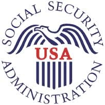 Social Security USA Administration with eagle icon