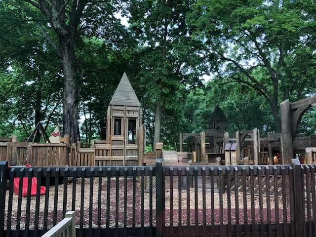 wooden structure that kids play on