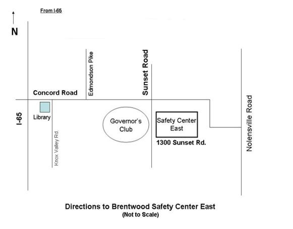 Safety Center East Map